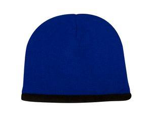 6de70cf9c4e735 Beanie w/Fleece Lining Cap (Royal/Black) - 4952 - IdeaStage ...