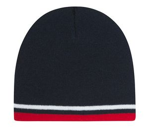 Striped Beanie Hat (Navy Red White) - 4625-339 - IdeaStage Promotional  Products b9da4299cdf