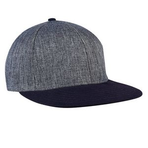 d967d5aaed7 Milan Tweed Baseball Cap w Contrast Visor   Button (Tweed Navy) - 6075-070  - IdeaStage Promotional Products