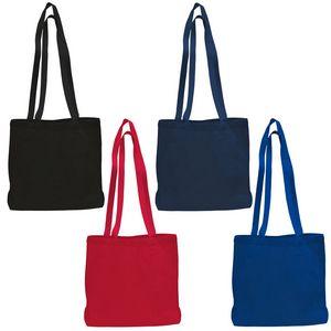 Custom Large Canvas Messenger Bag w/ Bottom Gusset