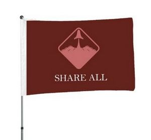 3''x5'' Single-Sided Flag Pole w Digital Print