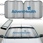 Custom Silver Reflective Eluminator TM Brand Accordion Sunshade