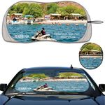 Custom Prest-O-Shade LS Full Color Full Bleed Patented Single Loop Sun shade contoured with wingletts
