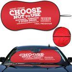 Custom Prest-O-Shade  Econo Shade FX Fabric Spring Wire Sun Shade Single loop design