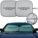 Custom DX -Line Economy Sunshade With Double-Loop Two-Piece Design (Opaque Silver)