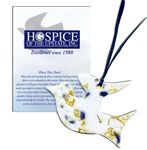 Large Dove Ornament w/Embedded Forget Me Not Seed