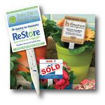 Plantable Grow Sticks w/Promotional Logo Sign