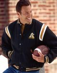 The Favorite Custom Wool Varsity Jacket w/1-Color Leather Shoulder Insert & Leather Overlay (Adult)