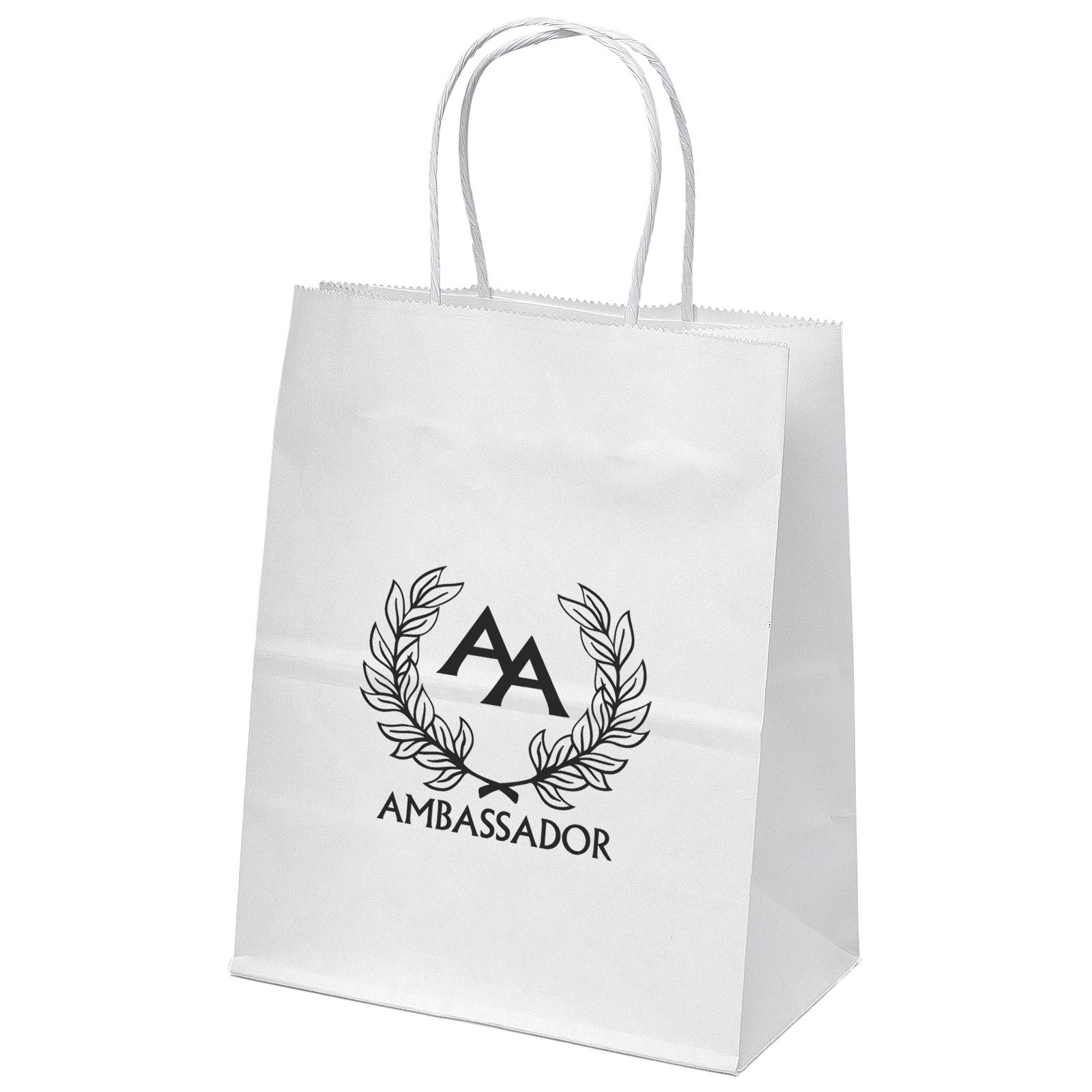 Mini White Shoppers Bag (Flexo Ink)