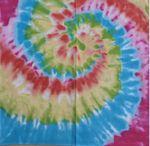Tie Dye Pattern Micro Polyester Bandanna (22
