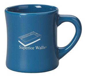 Promotional Product - 9 Oz  Matte/ Gloss Old Fashion Diner Mug
