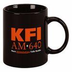 Custom 11 Oz. Black Stoneware Coffee Mug