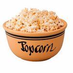 Custom 2 Quart Matte/ Gloss Ceramic Popcorn Bowl