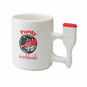 13 Oz  Unique Handle Mug w/ Paint Brush Handle