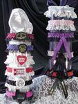 Custom 1 Color Leg Garter w/Matching Lace & Rosette