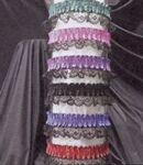 Custom 2 Color Ribbon Armband or Garter w/Bottom Lace