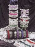 Custom 1 Color Armband or Garter w/Double Lace & Blank