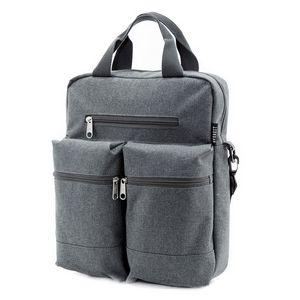 Custom Everest Vertical Laptop Messenger, Gray