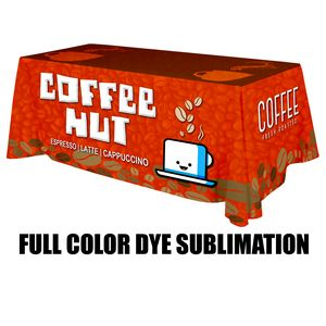 6 ft. x 30Top x 29H - 4 Sided Standard Table Throws (Full Color Print) Dye Sublimation