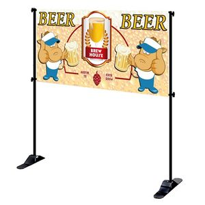 4' x 8' Mighty Banner Fabric Graphic w/ Large Tube Frame Kit