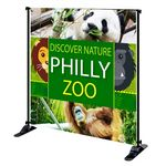 Custom 8' x 8' Mighty Banner Fabric Graphic w/ Large Tube Frame Kit