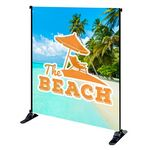 Custom 6' x 8' Mighty Banner Fabric Graphic w/ Large Tube Frame Kit