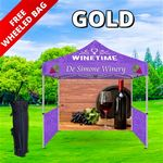 Custom Gold Event Package - 10' Tent, Sidewalls, and Backwall