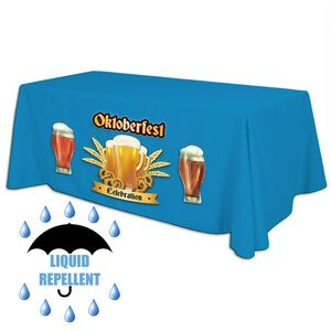 8 x 30 Top x 29 H - Liquid Repellent Table Throw (FULL COLOR) Dye Sublimation