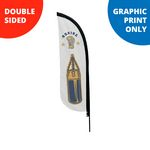 Custom 7' Feather Flag - Double Sided Print Only - X-Small