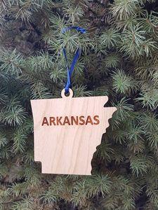 Custom Printed Arkansas State Shaped Ornaments