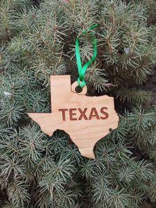 Custom Printed Texas State Shaped Ornaments