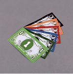 "2"" x 3.5"" - Customizable Paper Game Money - 21 Pieces"