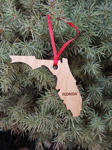 Custom Imprinted Florida State Shaped Ornaments