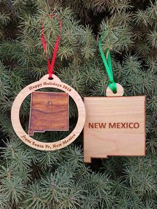 Custom Imprinted New Mexico State Shaped Ornaments