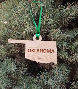 Custom Imprinted Oklahoma State Shaped Ornaments
