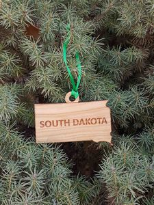Custom Imprinted South Dakota State Shaped Ornaments
