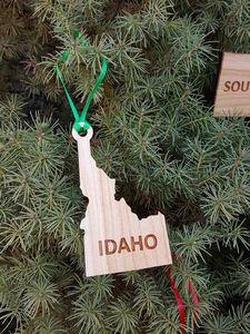 Custom Imprinted Idaho State Shaped Ornaments