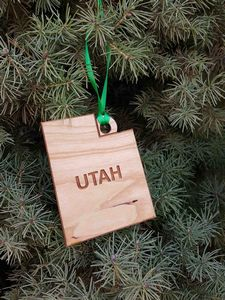 Custom Imprinted Utah State Shaped Ornaments