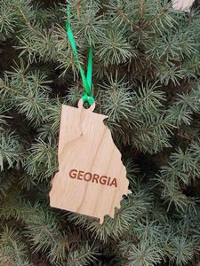Custom Imprinted Georgia State Shaped Ornaments