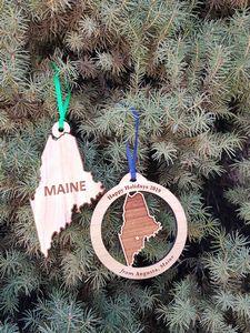 Custom Printed Maine State Shaped Ornaments