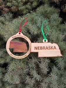 Custom Printed Nebraska State Shaped Ornaments