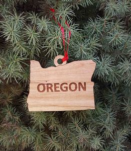 Custom Imprinted Oregon State Shaped Ornaments