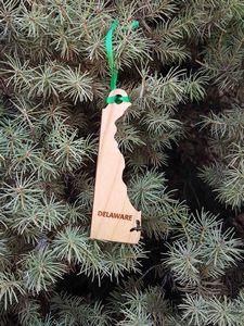 Custom Imprinted Delaware State Shaped Ornaments