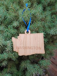 Custom Imprinted Washington State Shaped Ornaments
