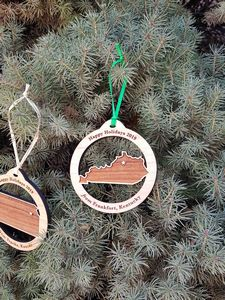 Custom Imprinted Kentucky State Shaped Ornaments