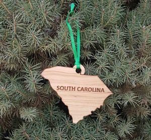 Custom Imprinted South Carolina State Shaped Ornaments!