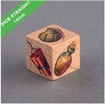 """.55"""" x .55"""" - Customizable Wooden Dice - Color Printed"""