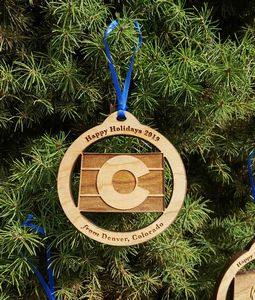 Custom Imprinted Colorado State Shaped Ornaments