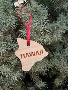 Custom Imprinted Hawaii State Shaped Ornaments