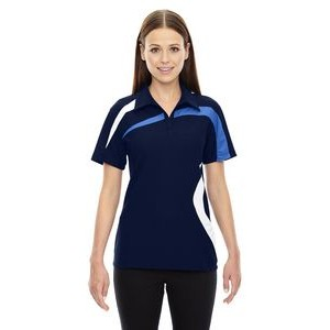 NORTH END SPORT RED Ladies' Impact Performance Polyester Piqué Colorblock Polo